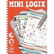 DJECO Mini gra logiczna SUDOKU dla dzieci - seria podróżnicza / kieszonkowa MINI LOGIX , DJ05350