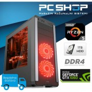 PC Računalo MagazinRS Gamer Ryzen 5 2600 3.4GHz, GTX 1060, 8GB DDR4 RAM, HDD 1TB