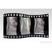 FILMSZALAG fényképtartó 3 db 10x15 cm-es álló képhez