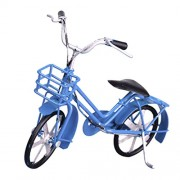 MagiDeal Diecast Street Bike Bicycle Model Replica Cycling Toy Collectables - Blue, as described