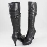 Cizme piele naturala dama - negru, Nike Invest - iarna - C257-Negru