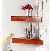 Shilpi Wooden Decorative Wall Shelves for Living Room Empty Wall Corners Set of 2 PCs