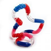 Tangle Jr. Textured Sensory Fidget Toy, Red Pink Blue