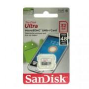 32GB SanDisk Ultra, microSD, скорост на четене 48 MB, Class 10