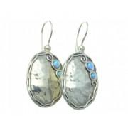 Cercei argint cu opal imperial