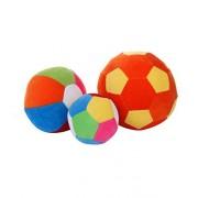 Shreeja Collections-Soft Toy Ball/ Stuffed/ Rattle Balls/ Shake Shake Balls/ Footballs/ Soft Balls/ Plush balls - Set of 3