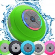 Mini Bluetooth Portable Waterproof Wireless Hands-free Speakers with LED Light Subwoofer - Green