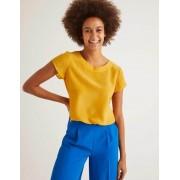 Boden Gelb Polly Seiden-T-Shirt Damen Boden, 34, Yellow