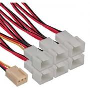 Cablu adaptor Inline 3-pini Fan la 6x 3-pini Fan, 33436
