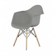 Resol - Conjunto de 4 cadeiras com braços cinzentas OSLO - RESOL