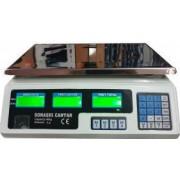 Cantar electronic greutate maxima 40 kg acumulator integrat platan inox incarcare priza