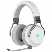 Геймърски слушалки Corsair Virtuoso RGB Wireless with Slipstream High-Fidelity Gaming Headset, 7.1 съраунд, бял, CA-9011186-EU