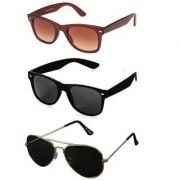 HH UV Protected Unisex Full Rim Aviator Sunglasses (2 Wayfarers Free)