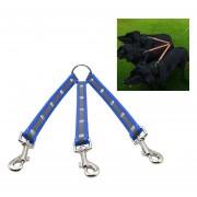 Material De TPU Mascotas Perros 3 En 1 Tangle Free Cable De Traccion Doble Mascota Perro Caminar Correa, Longitud: 25 Cm (azul)