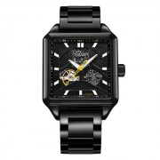 OUBAOER OB2003A Square Stainless Automatic Mechanical Watch