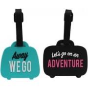 Tootpado Luggage Tag We Go Adventure (Pack of 2) - (LNTq049) Luggage Tag(Multicolor)