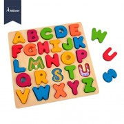 MiDeer ABC Animal Large Wooden Colorful Alphabet Puzzle Board Match Game Educational Toys - Edu Toys