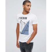 Tom Tailor T-Shirt In White With Wolf Print - 2000