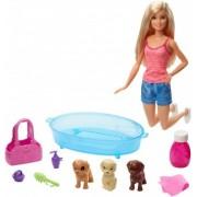 Barbie Pet Spa set de joaca cu 3 catei GDJ37