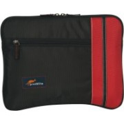 Protecta SLV0115IRE Stripy Laptop Sleeve for 15.6 Inch Laptops (Black & Red)Professional Sleeves Laptop Bag(Black , Red)