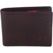 New Tareen Men Casual Brown Genuine Leather Wallet(6 Card Slots)