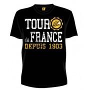 Tour De France T Shirt Heren Zwart Vintage Maat S