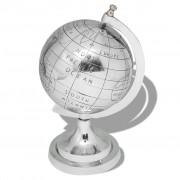 vidaXL 35 cm Földgömb ezüst alumínium állvánnyal