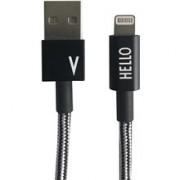 Design Letters Micro USB Cable 1 M Black V