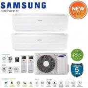 Samsung Climatizzatore Condizionatore Samsung Inverter Dual Split Windfree Pure 9000+12000 Con Aj050ncj R-32 Smart Wifi - New 9+12