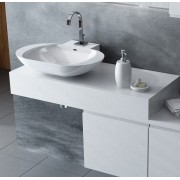 Antado Combi szafka prawa z blatem lewym i umywalką Mia biały ALT-141/45-R-WS+ALT-B/1-1000x450x150-WS+UCS-TC-60