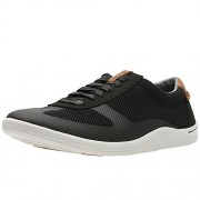 Clarks Men's Mapped Vibe Black Leather Casual Sneakers - 6.5 UK/India (40 EU)