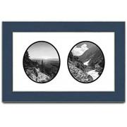 Frames by Mail Marco de Fotos Ovalado Doble para Fotos de 20,3 x 25,4 cm, Color Azul Marino
