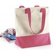 Geen Beige roze basic canvas tas/shopper 47 x 39 cm
