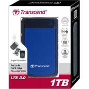 """Eksterni hard disk HDD External 2.5"""" 1TB Transcend TS1TSJ25H3B, 5400 8MB USB3.0"""