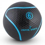 Capital Sports MEDBA 6 медицинска топка 6 кг гума черна (FIT13-Rotunder)