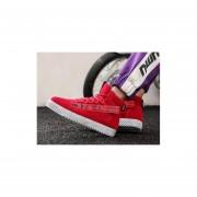 Zapatos casuales de los hombres coreanos rojo