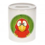 Bellatio Decorations Dieren spaarpot papegaai voor kinderen 9 cm