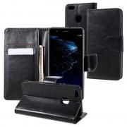 Huawei P10 Lite Classic Wallet Case - Black
