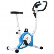 vidaXL Bicicleta estática com resistência por cinta azul