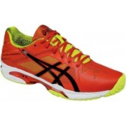 Asics Gel-Solution Speed 3 Men Tennis Shoes For Men(Orange, Black, Yellow)