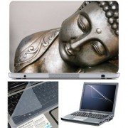 Finearts Laptop Skin 15.6 Inch With Key Guard Screen Protector - Buddha Metal