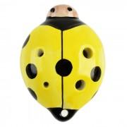 Ladybug estilo de 6 agujeros C-clave Ocarina instrumento musical - amarillo