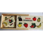Jouet Educatif Coffret Domino En Bois Fruit 28pcs