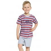 Maxík fiú pamut pizsama, csíkos 122