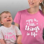 T-shirts Enjoy the Little Things in Life Mãe Bebé