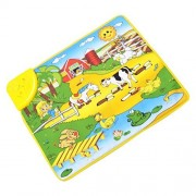 Bolayu Kids Baby Happy Farm Musical Touch Play Singing Carpet Mat Toy
