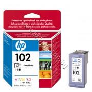 Касета HP 102, Grey Photo, p/n C9360AE - Оригинален HP консуматив - касета с глава и мастило