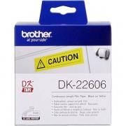 Brother DK-22606 Etiquetas amarillo Cinta continua, 62 mm x 15,24 m