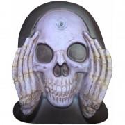 Merkloos Enge gluurder skelet hoofd decoratie