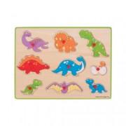 Puzzle din lemn incastru - Dinozauri